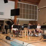 James and Mark work on fine tuning before recording Sunday, June 10 at the Forest Lake Church recording session.