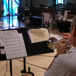 Jeff practices a section of Sonata 28 before a recording take Sunday, June 10 at the Forest Lake Church recording session.