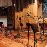 Everything setup and ready to record at a followup session at Markham Woods July 18, 2012